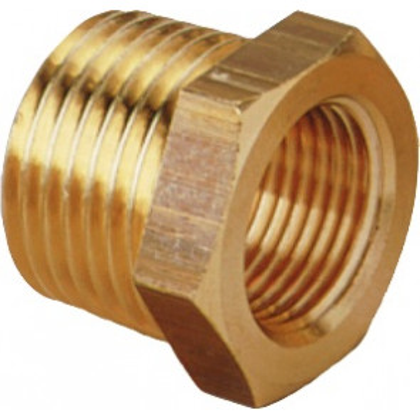 "Brass Reducing Bush 1/2 x 3/8"" | tradepumps.com"